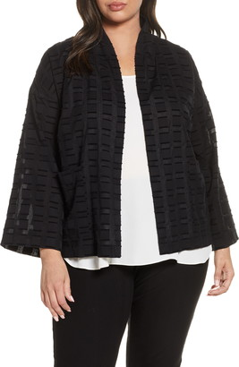 Eileen Fisher Shawl Collar Fil Coupe Jacket
