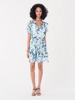 Diane von Furstenberg Delie Chiffon-Blend Mini Dress