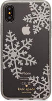 Kate Spade Glitter Snowflakes iPhone X Case