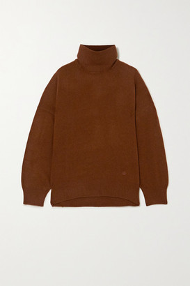 LOULOU STUDIO Murano Cashmere Turtleneck Sweater - Brown