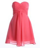 Fashion Plaza Short Strapless Bridesmaid Dress Wedding Party D0362