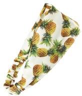 Cara Women's Pineapple Print Head Wrap - Ivory