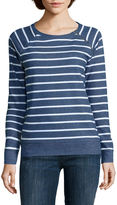 Liz Claiborne Long-Sleeve Zip-Shoulder Sweatshirt - Petite