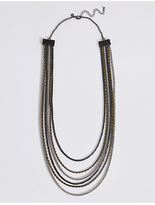 M&S Collection Darkness Multi Row Necklace