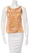 Chanel Printed Sleeveless Top