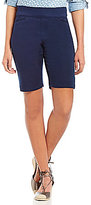 Intro Sheri Pintuck Pull-On Solid Bermuda Shorts