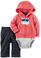 Carter's 3-Pc. Bulldog Hoodie, Bodysuit & Jeans Set, Baby Boys (0-24 months)