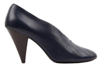 Celine Navy Leather Heels