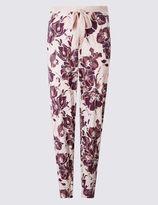 Marks and Spencer Floral Print Cuffed Hem Pyjama Bottoms