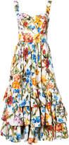 Dolce & Gabbana bustier printed midi dress