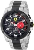 Ferrari Men's 830032 Analog Display Japanese Quartz Silver Watch