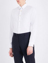 Paul Smith Mens White Printed Formal Shirt