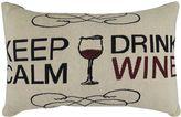 B. Smith Park ''Keep Calm Drink Wine'' Throw Pillow