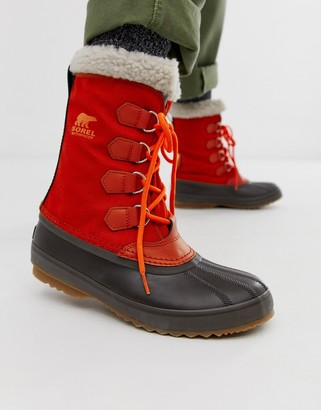 Sorel 1964 pac nylon winter boot in red