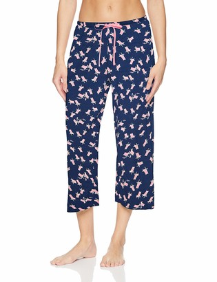 Hue Women's Printed Knit Capri Pajama Sleep Pant