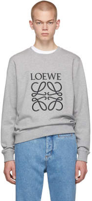 Loewe Grey Embroidered Anagram Sweatshirt