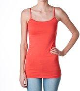 Hollywood Star Fashion Plain Long Spaghetti Strap Tank Top Camis Basic Camisole Cotton