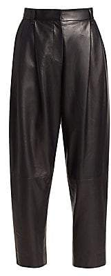 Brunello Cucinelli Women's Tapered Leather Pants