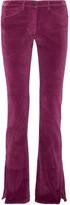 3x1 Velvet Bootcut Pants - Plum