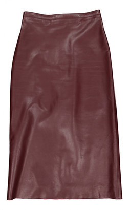 Christian Dior Burgundy Leather Skirts