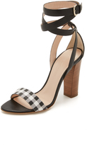 Club Monaco Valencina Ankle Wrap Sandals