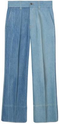 Gucci Patchwork effect denim trousers