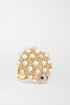 Yvonne Léon 18-karat Gold, Pearl And Diamond Ring