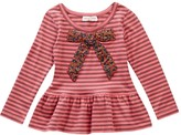 Mimi & Maggie Bow Striped Tee (Little Girls & Big Girls)