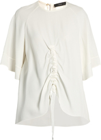 Ellery Riviera ruched double-crepe top