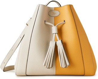 Mulberry Small Millie Tote Deep Amber and Chalk Heavy Grain Leather