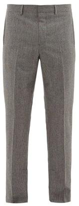 Givenchy Slit-hem Herringbone-wool Trousers - Mens - Black And White