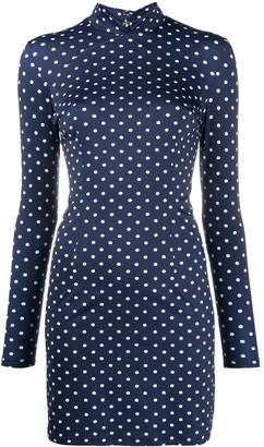 MARCIA Polka Dot Fitted Mini Dress