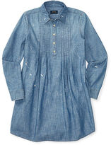 Ralph Lauren Pintucked Chambray Shirtdress