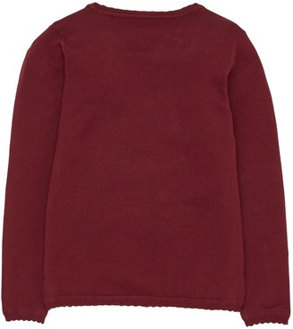 Very Girls 2 Pack Knitted School Cardigans - Burgundy