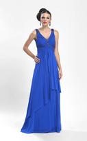 Sue Wong Sleeveless Ruched Long Dress N3511