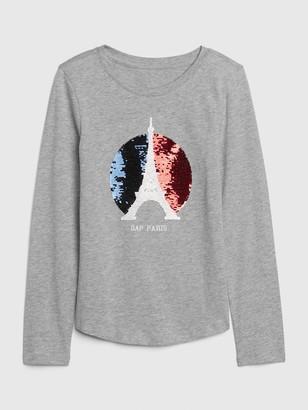 Gap Kids City Graphic Flippy Long Sleeve Shirt