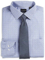 Rochester Dobby Check Dress Shirt Casual Male XL Big & Tall