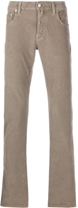 Jacob Cohen Straight Leg Corduroy Trousers