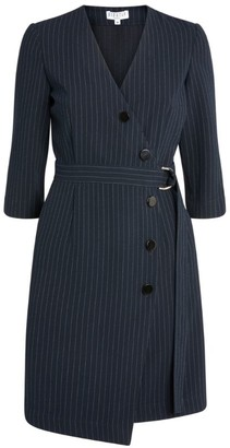 Claudie Pierlot Pinstripe Belt Dress