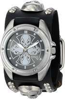 Nemesis Men's MSK909K Skull Compass Watch