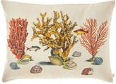 John Derian Sea Life Coral Pillow