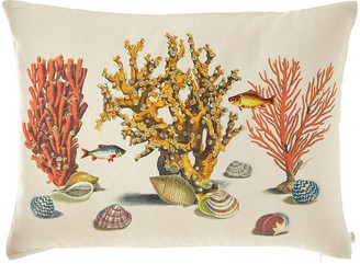 John Derian Sea Life Coral Pillow