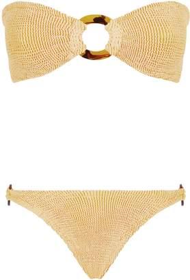 Hunza G Gloria Embellished Bandeau Bikini