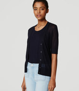 LOFT Petite Sheer Short Sleeve Cardigan