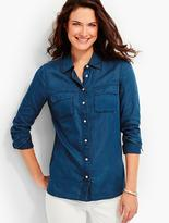 Talbots Cotton Voile Button-Front Shirt