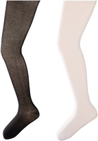 Jefferies Socks Seamless Organic Cotton Tights 2-Pack (Infant/Toddler/Little Kid/Big Kid)