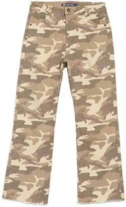 Tractr High Rise Cropped Camo Print Pants
