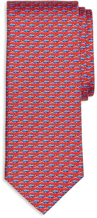 Brooks Brothers Speedboat Print Classic Tie