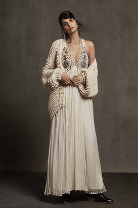 Zvezda Embellished Maxi Dress By Ranna Gill in White Size L P