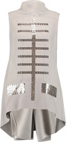 Rick Owens Sequin-embellished wool-blend twill top